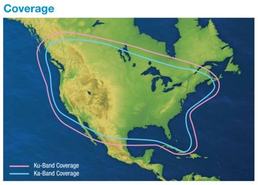 s6HD Satellite Coverage Area